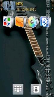 Beautiful Guitar theme screenshot