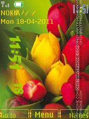 Tulips Clock theme screenshot