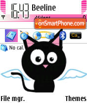 Black Cat 11 theme screenshot