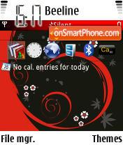 Скриншот темы Contrast Black N Red