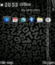 Numbers black theme screenshot