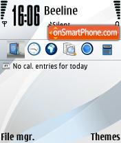 Ice theme screenshot