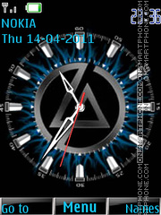 Linkin Park clock 02 theme screenshot