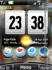 Htc 3g Storm theme screenshot
