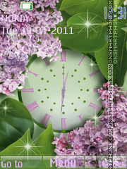 Lilac Clock tema screenshot