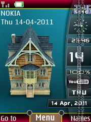 Home Sidebar Clock theme screenshot