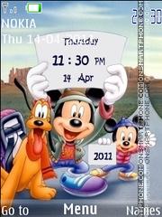 Toon Disney Clock es el tema de pantalla