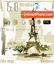 Paris City theme screenshot