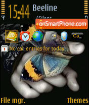 Butterfly 01 theme screenshot