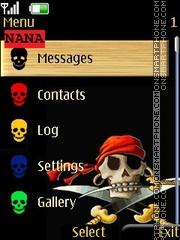 Pirate Skull CLK theme screenshot