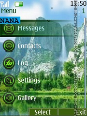 WaterFall CLK theme screenshot