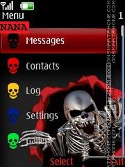 Skeleton Red CLK tema screenshot
