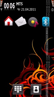 Fire Cool Theme tema screenshot