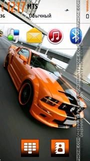 Orange Mustang 02 theme screenshot
