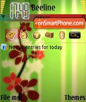 Diffuse Art Flowers es el tema de pantalla