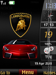 Lamborghini Sidebar 01 theme screenshot