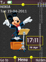 Mickey Mouse Clock 01 theme screenshot