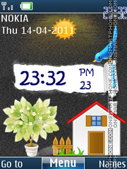 Sweet Home Clock theme screenshot