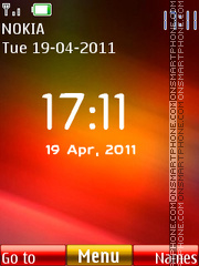 Android Colors Clock theme screenshot