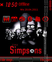 The simpson 02 theme screenshot