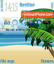 Beach 02 theme screenshot