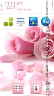 Pink Rose S60 5th theme screenshot