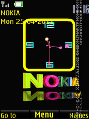 Nokia color clock theme screenshot