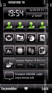 Cool black theme screenshot