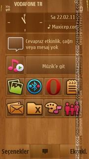 Wood theme screenshot