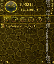 Gold Cherries tema screenshot