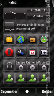 Black circle theme screenshot