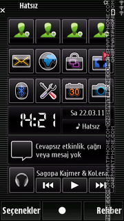 Black mozaic theme screenshot