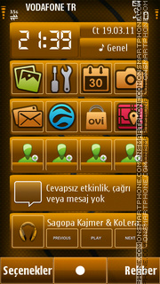 Brown theme screenshot