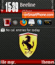 Ferrari QVGA theme screenshot