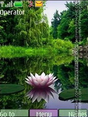 Скриншот темы Pink lotus 3d swf