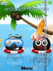 Hawaii Smileys tema screenshot