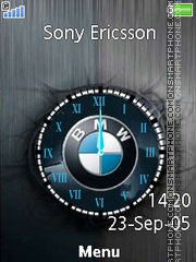 BMW Logo Clock theme screenshot