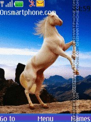 White Horses 01 theme screenshot