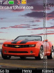 Chevrolet Camaro Red theme screenshot