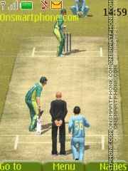 3d Cricket theme screenshot