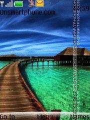 Скриншот темы Beach View 01