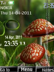 Mushrooms Clock theme screenshot