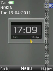 New Version Clock theme screenshot