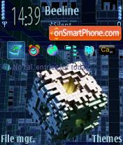 Скриншот темы Cube Space