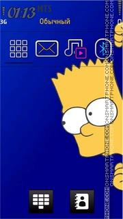 Bart Simpson 10 theme screenshot
