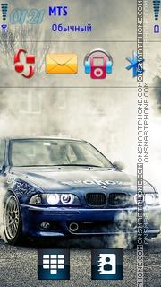 Bmw M5 Burnout theme screenshot