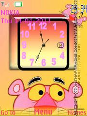 Скриншот темы Pink Panther Clock 01