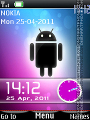 Android Dual Clock theme screenshot