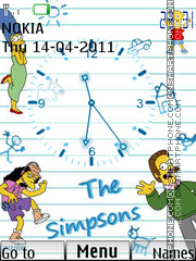 Simpsons Clock 01 theme screenshot