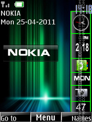 Nokia Slide Bar theme screenshot